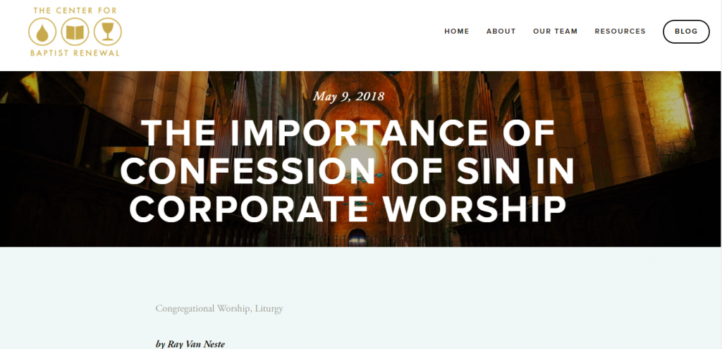 importance of confession of sin